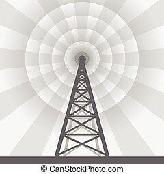 タワー, ラジオ, 背景