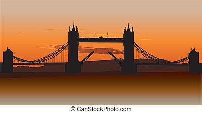 タワー, ロンドン, イギリス, 橋