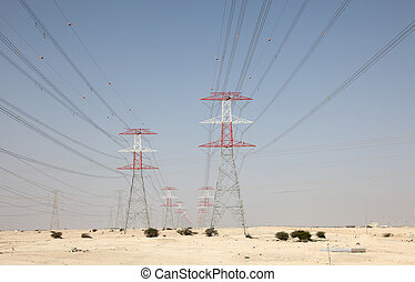 タワー, 伝達, 高く, 中央, 電圧, 東, 砂漠, qatar
