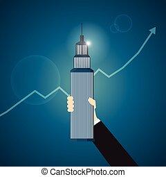 タワー, 保有物, ビジネス, 手
