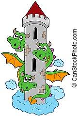 タワー, 先頭に立たれる, 3, ドラゴン
