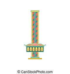 タワー, 公園, イラスト, 要素, ベクトル, 無料で, 背景, 秋, 白, 娯楽