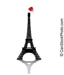 タワー, 冬の 帽子, エッフェル, 赤