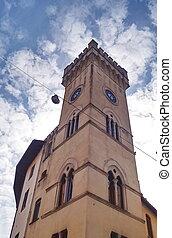 タワー, 古い, 中心, pistoia