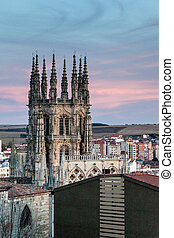 タワー, 大聖堂, burgos, マリア, santa