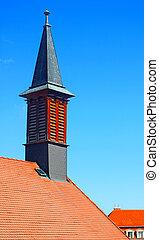 タワー, 屋根, スロバキア, 教会, bratislava, jesuit, 赤