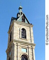 タワー, 時計, jaffa, 上, 2011