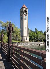 タワー, 時計, spokane, washington.