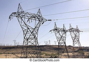 タワー, 植物, 水力発電の力, リレー