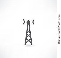 タワー, 波, ラジオ, アイコン