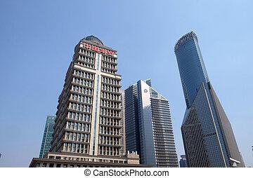 タワー, 財政, pudong, 上海, 陶磁器