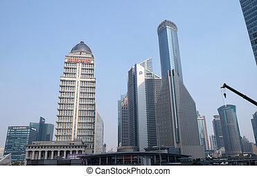 タワー, 陶磁器, 財政, 上海, pudong