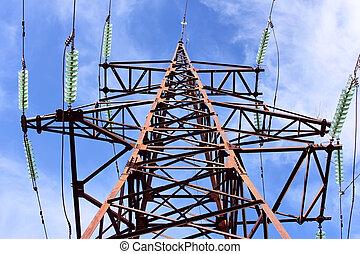 タワー, 高電圧, 電気である