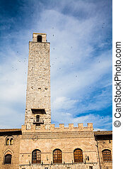 タワー, gimignano, san