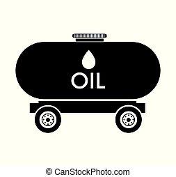 タンク, オイルのトラック, アイコン