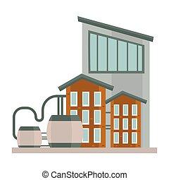 タンク, 3, 物語, 貯水池, 産業, 建物, 複合センター, 水