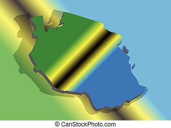タンザニアの旗, 抽象的
