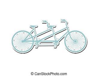 タンデム自転車, アイコン