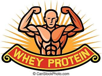 タンパク質, whey, ラベル