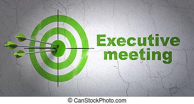ターゲット, ビジネス, 壁, 経営者, 背景, ミーティング, concept: