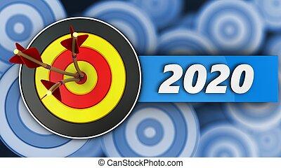 ターゲット, 印, 2020, 年, ラウンド, 3d