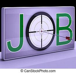 ターゲット, 専門職, 仕事, ショー, 雇用, 職業