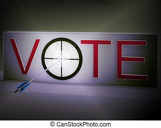 ターゲット, 手段, 決定, 選択, 投票, 評価
