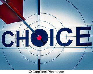 ターゲット, 決定, 両方向である, 選択, 道, ショー
