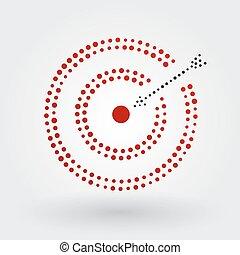 ターゲット, 矢, 赤