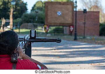 ターゲット, 訓練, 矢, 射撃, 石弓, 人