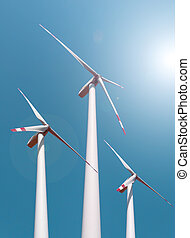 タービン, エネルギー, windfarm, エネルギー, 緑, 選択肢, 風