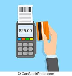 ターミナル, クレジット, pos, カード, 支払い