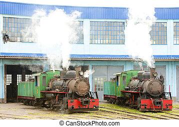 ターミナル, 蒸気, セルビア, 機関車, kostolac