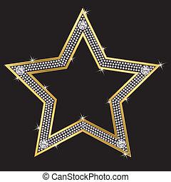 ダイヤモンド, ベクトル, 星, golg