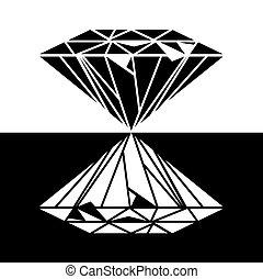 ダイヤモンド, ベクトル