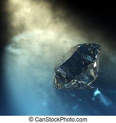 ダイヤモンド, レンダリング, ライト, caustics, 目に見える, 3d
