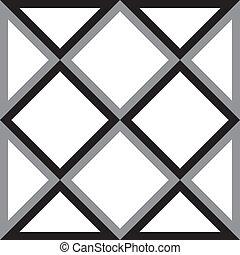 ダイヤモンド, 三角形, 抽象的, 広場, 背景, trydimensional, 錯覚