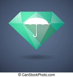 ダイヤモンド, 傘, アイコン