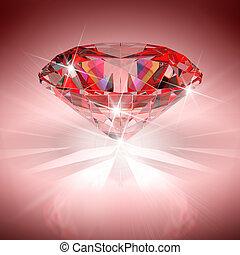 ダイヤモンド, 赤