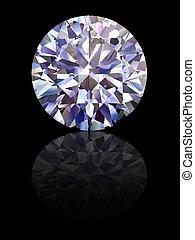 ダイヤモンド, 黒, グロッシー, 背景