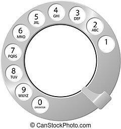 ダイヤル, 電話