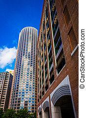ダウンタウンに, ボストン, 超高層ビル, massachusetts.