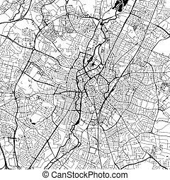 ダウンタウンに, 地図, ベクトル, レスター