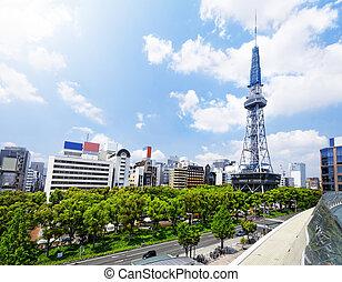 ダウンタウンに, 日本, 日中, 名古屋, 都市