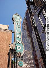 ダウンタウンに, 有名, ポートランド, オレゴン, 印