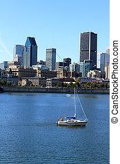 ダウンタウンに, 船遊び, ケベック, カナダ, モントリオール