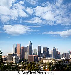 ダウンタウンに, la, ロサンゼルススカイライン, カリフォルニア