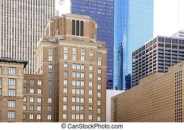 ダウンタウンの houston, 建物, テキサス, 都市