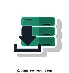 ダウンロード, 矢, の, デジタル, 概念