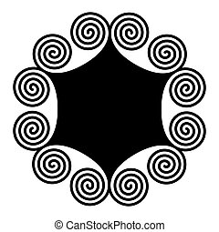 ダブル, らせん状に動きなさい, 装飾, 紋章, 作られた